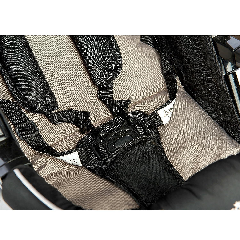 Hot Pink Canopy EVEZO 2141A Full-Size Ultra Lightweight Umbrella Stroller Reclining Seat Storage Bin 5-Point Safety Harness