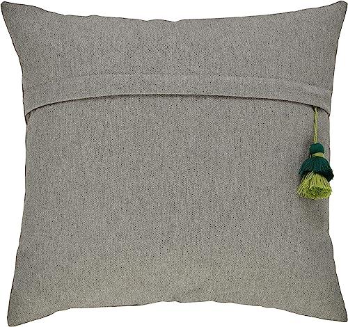 Amazon Brand Stone Beam Casual Tassel Throw Pillow – 17 x 17 Inch, Shadow
