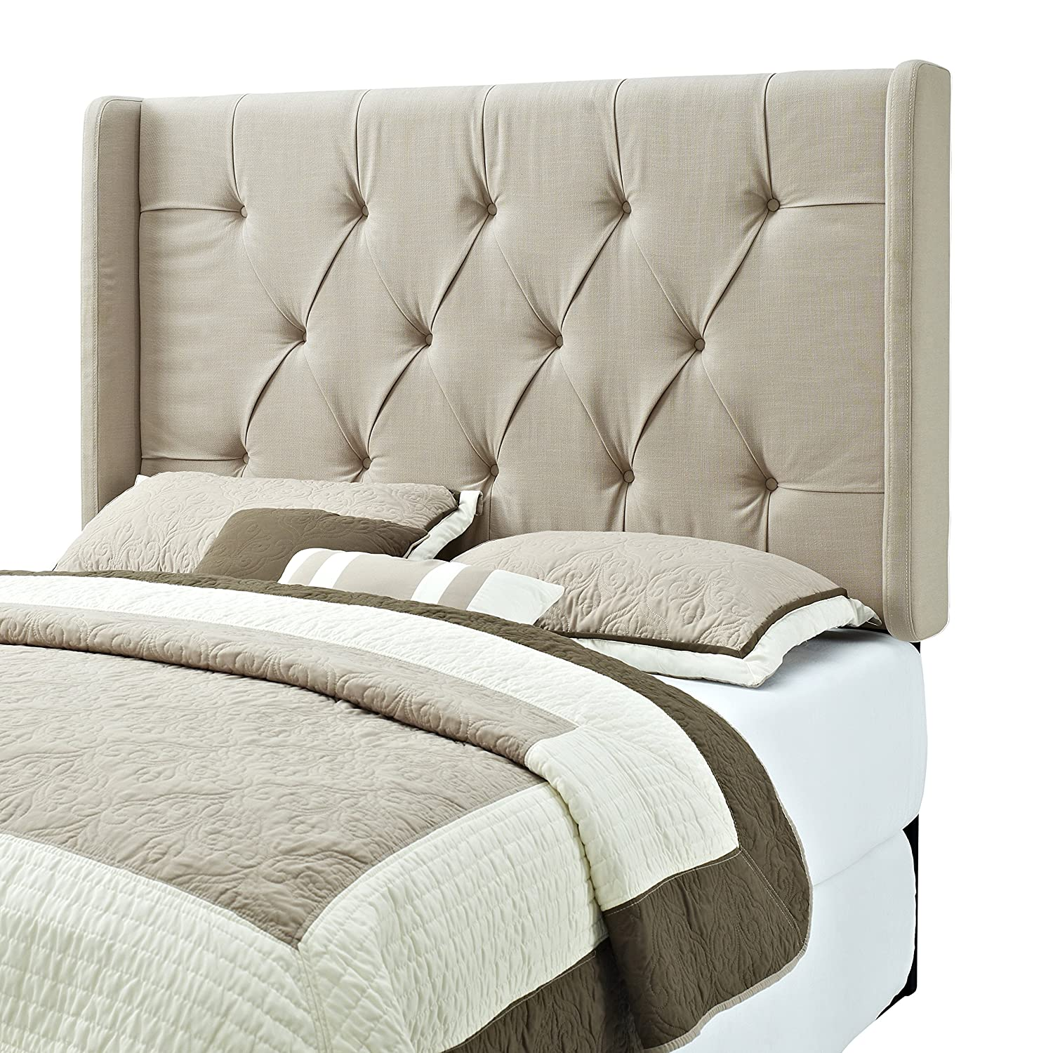 Amazon.com - Pulaski Mirabella Tufted Panel Headboard with Wings, King - - Amazon.com - Pulaski Mirabella Tufted Panel Headboard With Wings