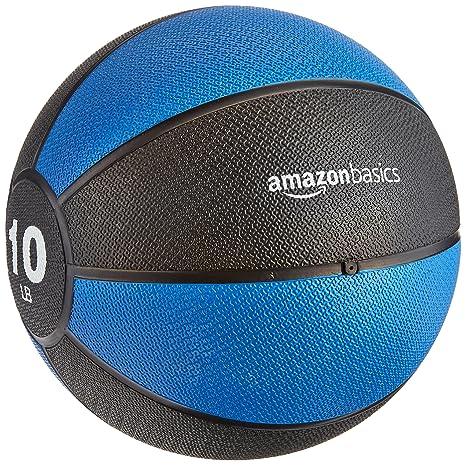 Amazon Amazonbasics Medicine Ball 10 Pounds Sports Outdoors