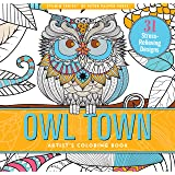 Owl Town Coloring Book 31 Stress Relieving Designs