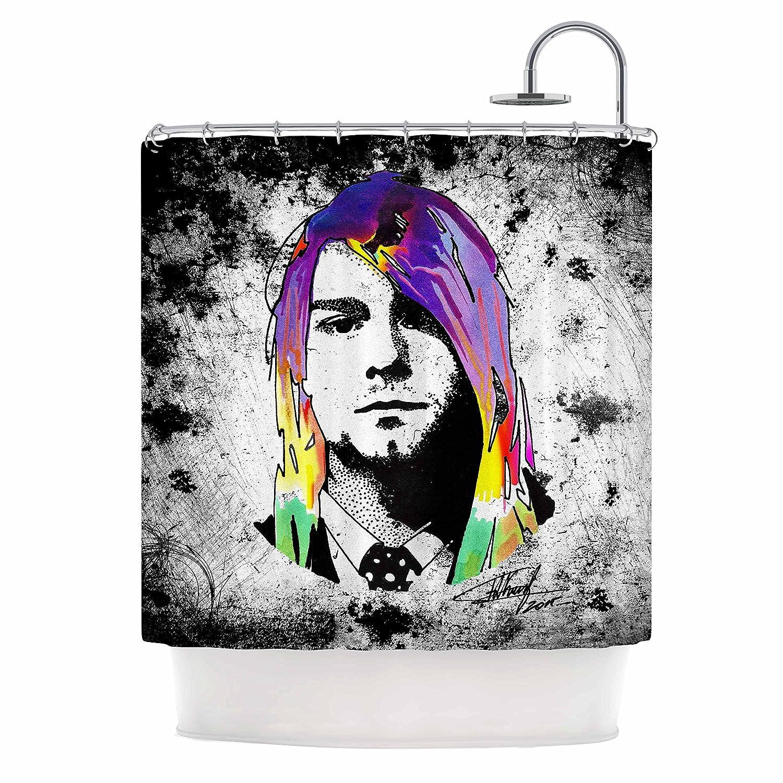 69 x 70 Shower Curtain Kess InHouse Ivan Joh Grunge Pop Art Lavender