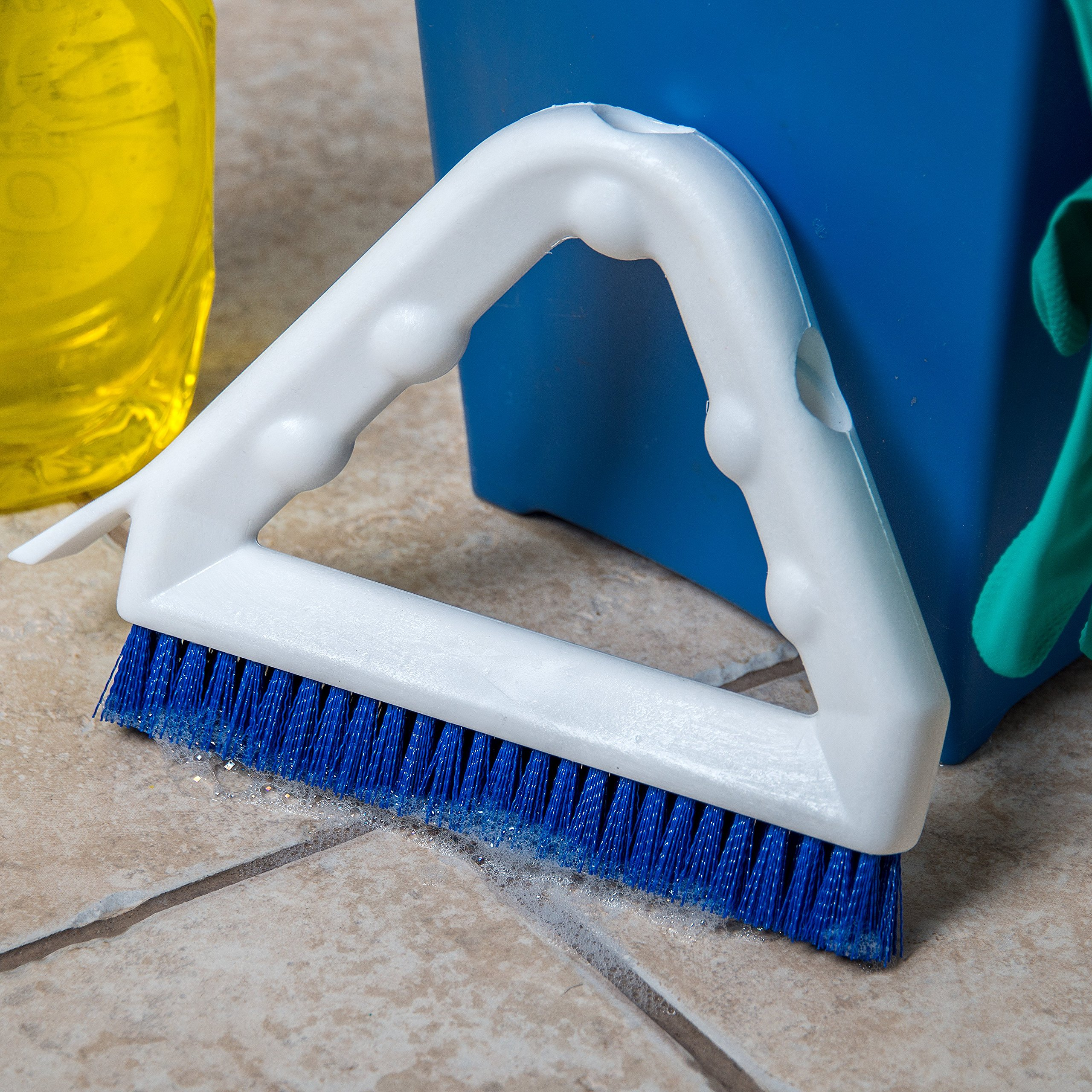 Carlisle 4132314 Sparta Tile and Grout Brush with Scraper, 9'', Blue by Carlisle (Image #6)