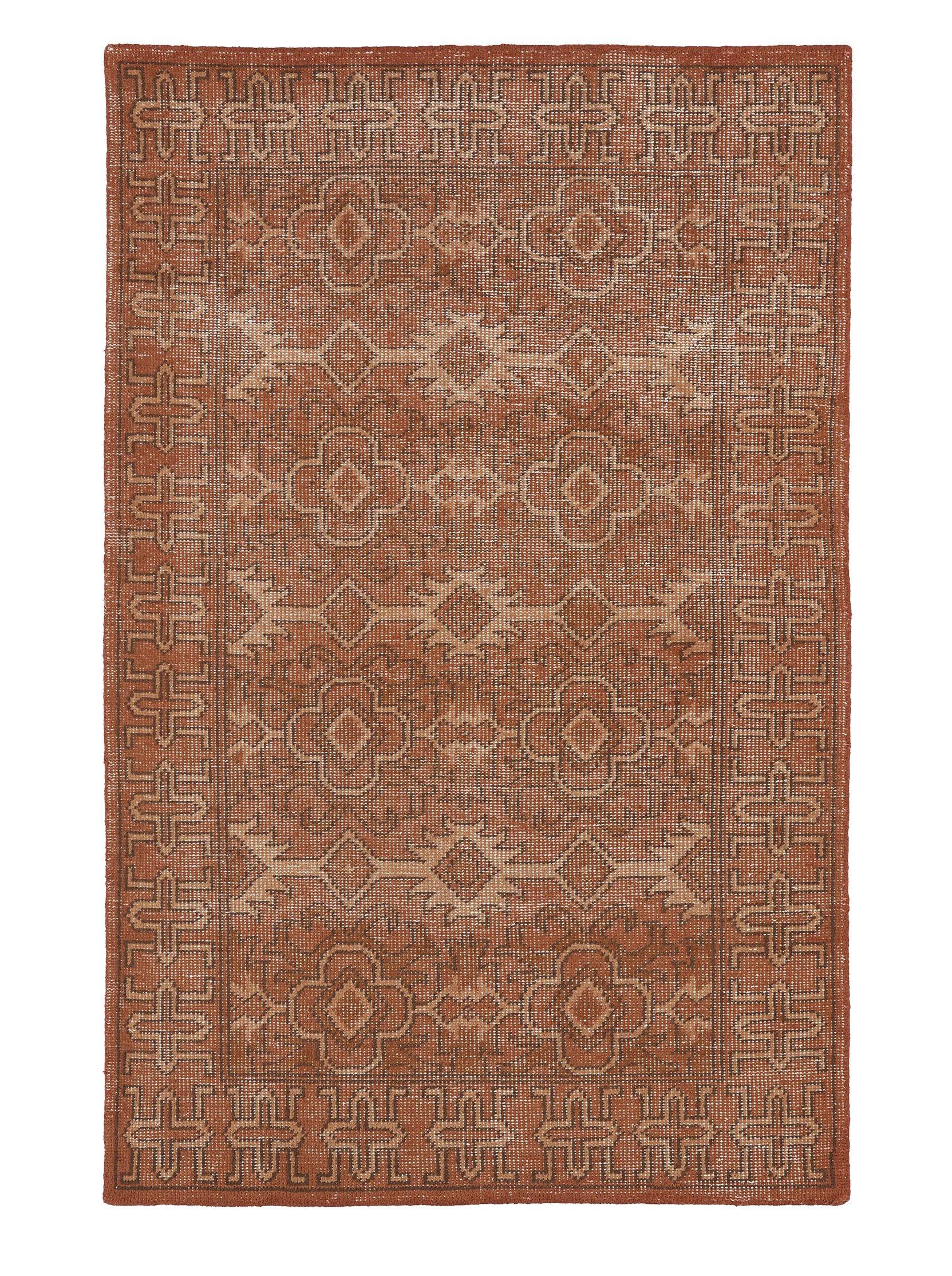 Kaleen Rugs Restoration Collection RES04-53 Paprika Hand-Knotted 9' x 12' Rug