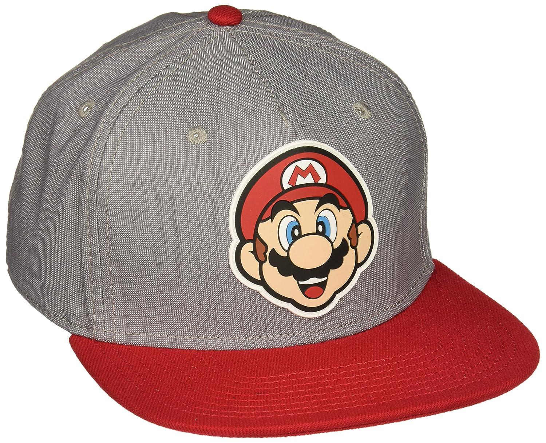 Amazon.com  bioWorld Nintendo Super Mario Bros - Mario Rubber Logo Snapback  Cap  Toys   Games 0b6ebb005f96