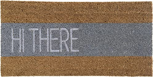 Bloomingville AH0038 Doormat Hi There Coir Door Mat, 31.5 x 15.75 , Grey