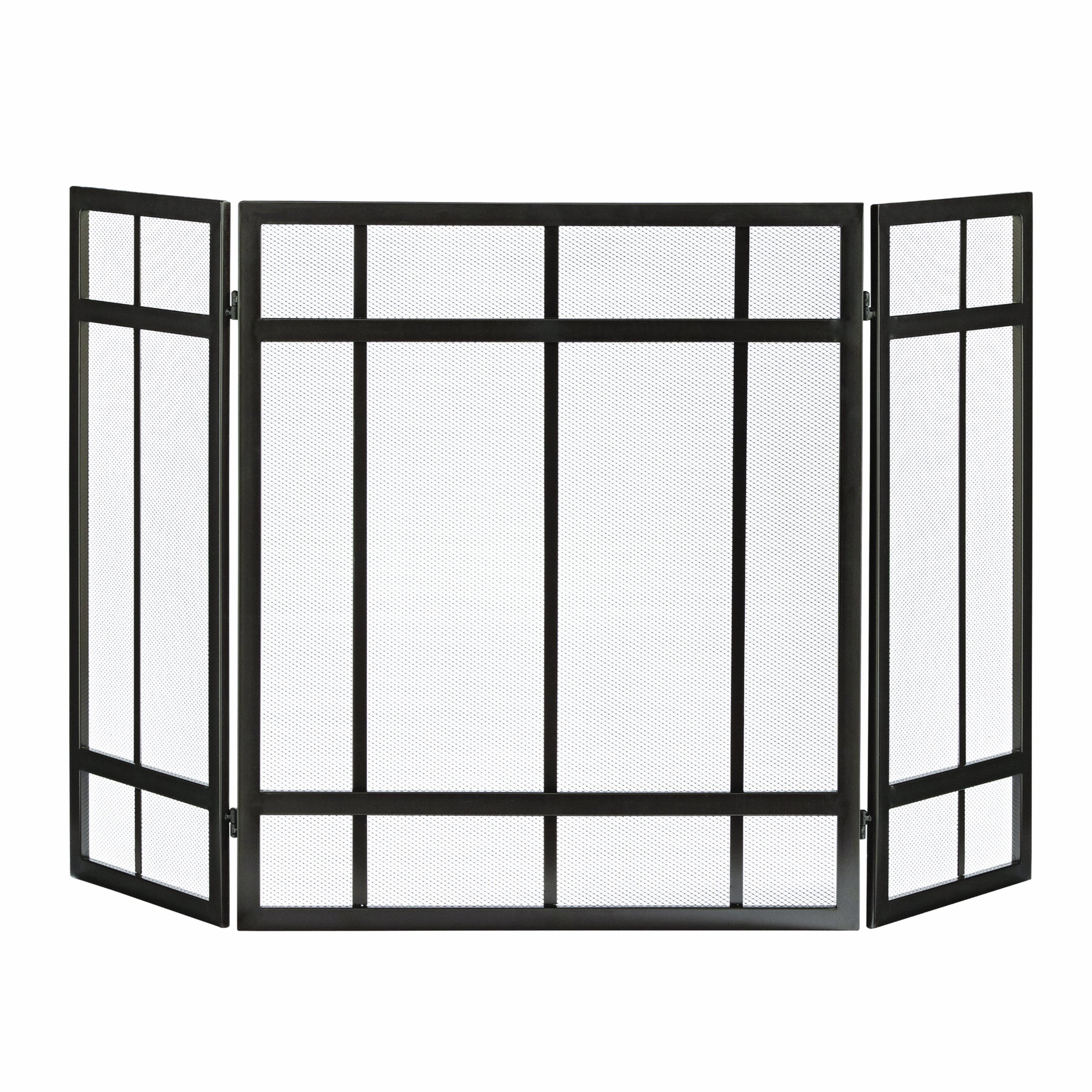 Pleasant Hearth Mission Style 3-Panel Fireplace Screen by Pleasant Hearth