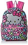 Hello Kitty Girls' Glitter 16 Inch Backpack, Pink
