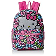 05e052b9c2cd Hello Kitty Girls  Glitter 16 Inch Backpack