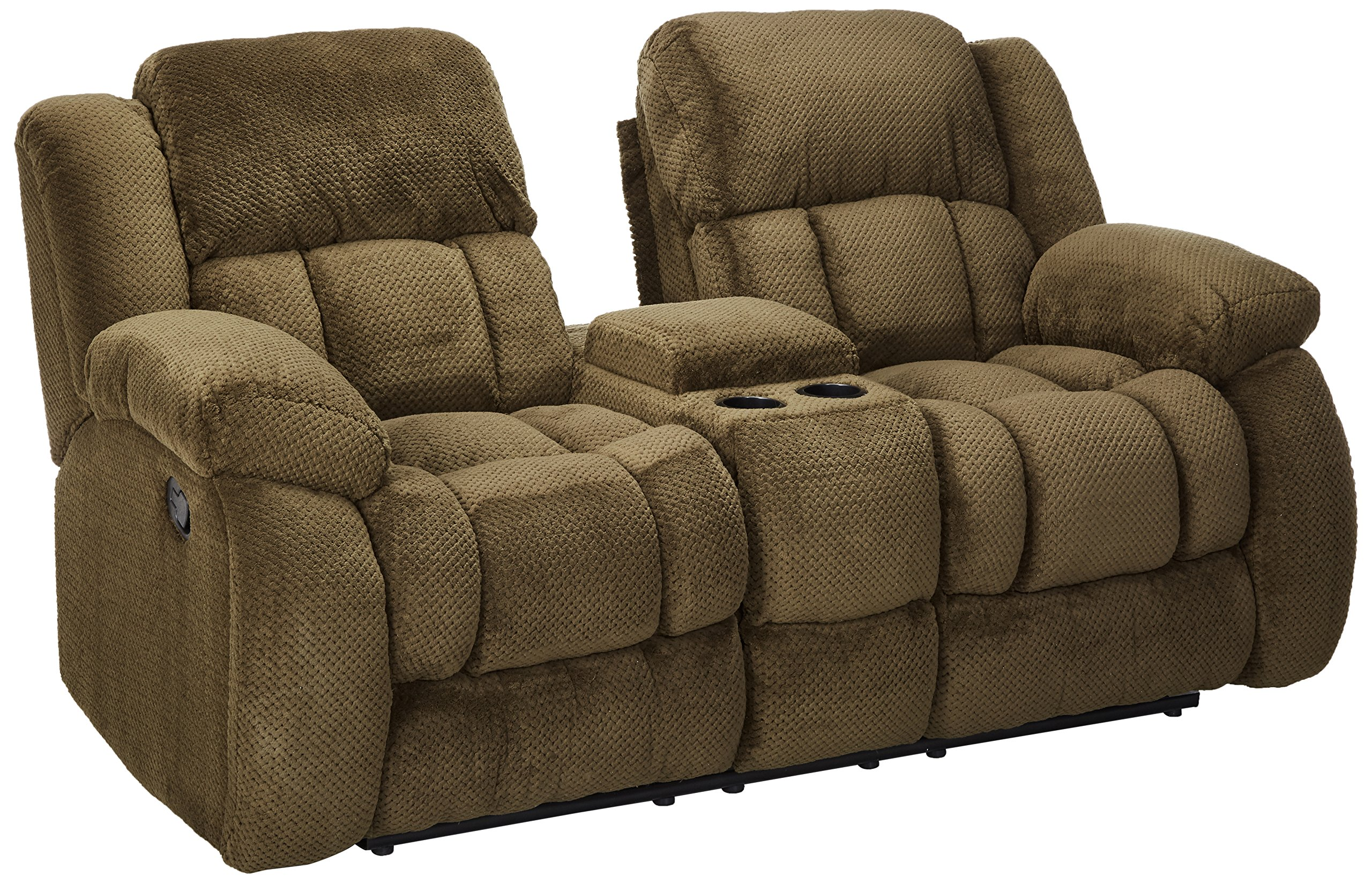 Coaster Home Furnishings Coaster 601925 Motion Loveseat, Brown, Weissman Motion Collection