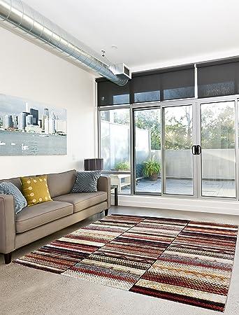 Fantastisch Teppich Edler Wohnzimmer Teppich Retro Marokko Abstrakt   160x230 Cm    Schadstofffrei   Braun Orange Beige