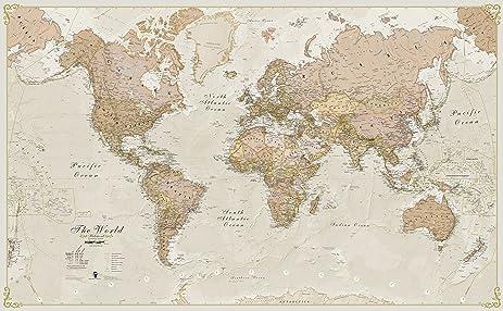 Amazon maps international world antique paper wall map 120 maps international world antique paper wall map 120 scale gumiabroncs Choice Image