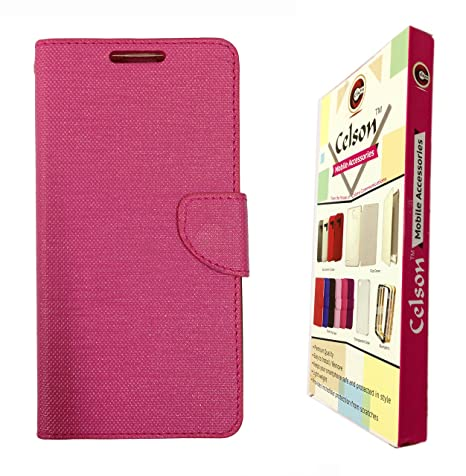 buy popular de386 35e6d Celson Flip Cover Back Case For Vivo Y11 Flip Cover - Pink