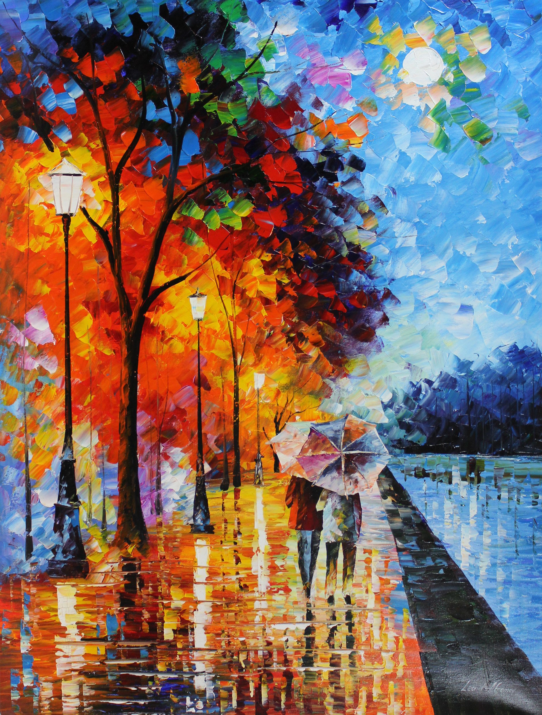 Love by the Lake is a LIMITED EDITION, MIXED MEDIA Oil Painting on Canvas by Leonid AFREMOV