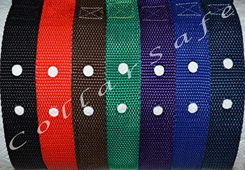 CollarSafe 1 Wide Basic Replacement Collar -Fits Most Not All PetSafe Other Brand Modules Requiring 2-Holes – for Wireless Containment, Electric Fence, Training Bark Systems