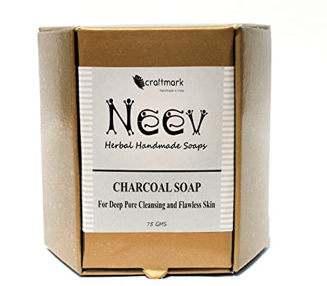 Buy Neev Charcoal Soap For Deep Pore Cleansing and Flawless