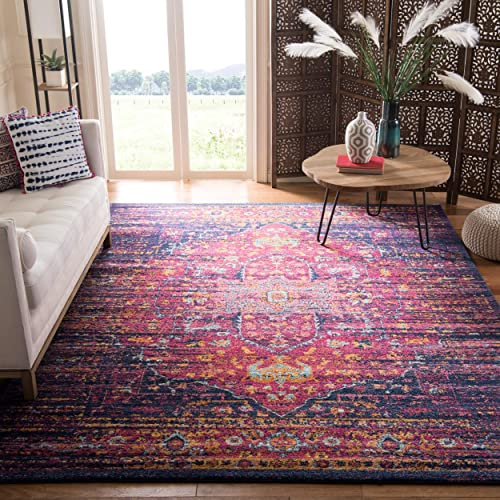 Safavieh Evoke Collection EVK275F Boho Chic Medallion Distressed Area Rug