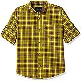 Cherokee by Unlimited Boys' Plain Regular Fit Cotton Shirt