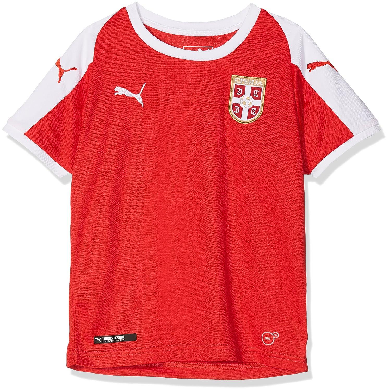 Puma Kinder Serbia Home Shirt Ss Replica Jr Trikot