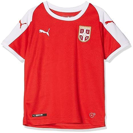 Puma Kinder Serbia Home Shirt Ss Replica Jr Trikot: Amazon