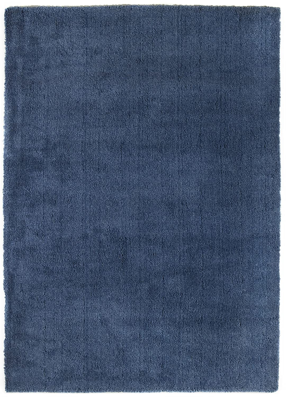 TEPPICHWELT SONA-LUX Teppich handgetuftet blau
