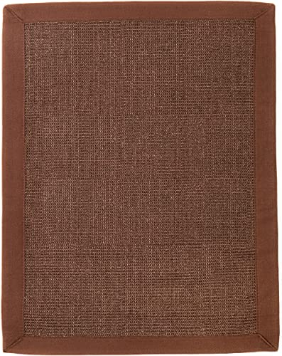 Anji Mountain Ibis Sisal Area Rug, Dark Brown, 9 x 12-Feet