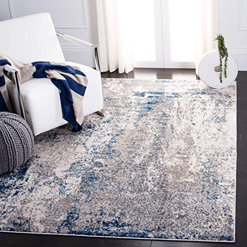 Safavieh Aston Collection ASN718F Area Rug, 8 x 10 , Grey Navy