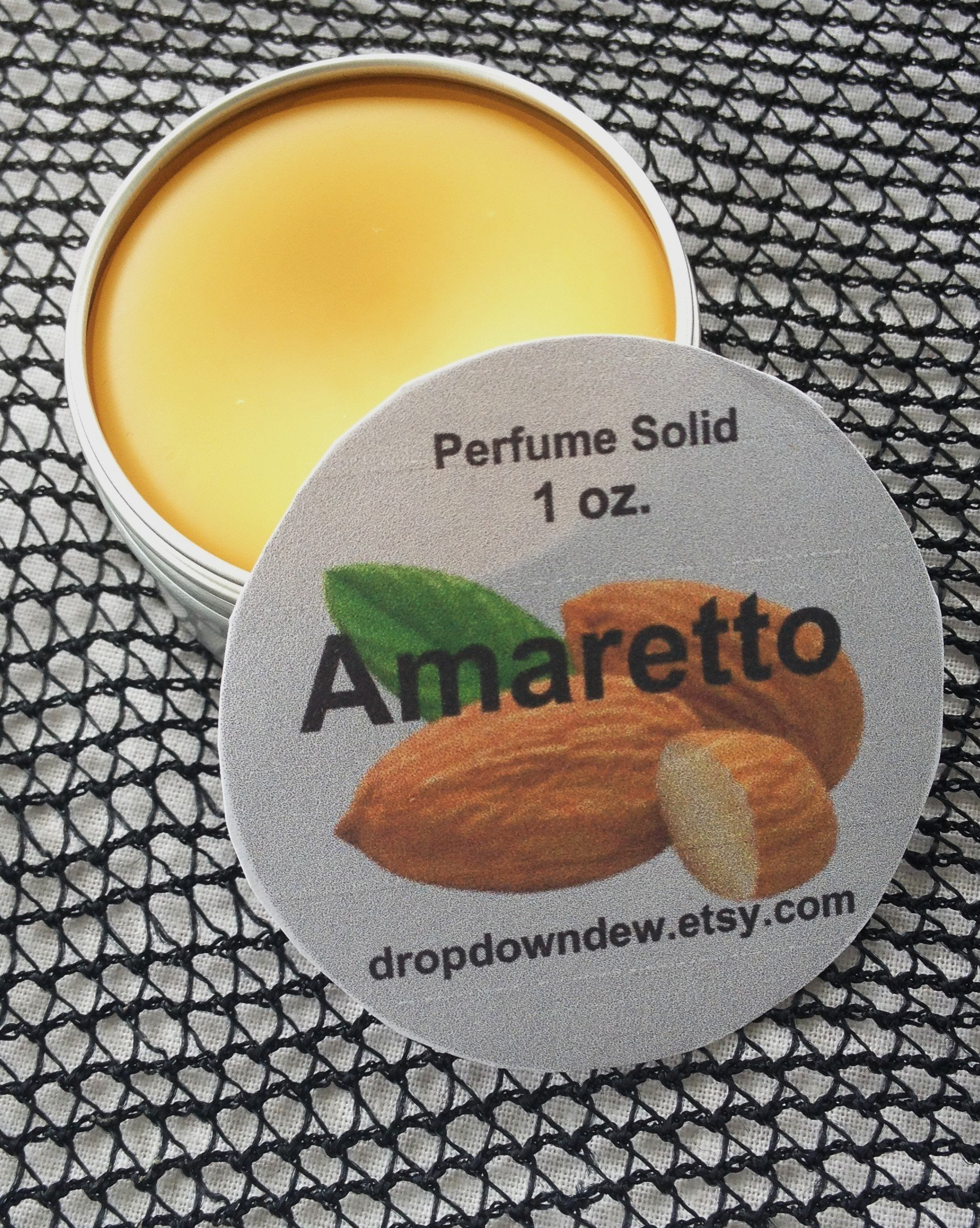Amaretto Perfume Solid, Perfume Balm, Perfume Rub, Aromatherapy, Essential Oils, Almond Flavor, Natural Perfume, Perfume Gifts, 1 oz.