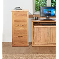 Mobel Oak 3 Drawer Filing Cabinet Brown