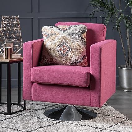 Amazon.com: Alice Modern Light Magenta Fabric Swivel Chair: Kitchen ...