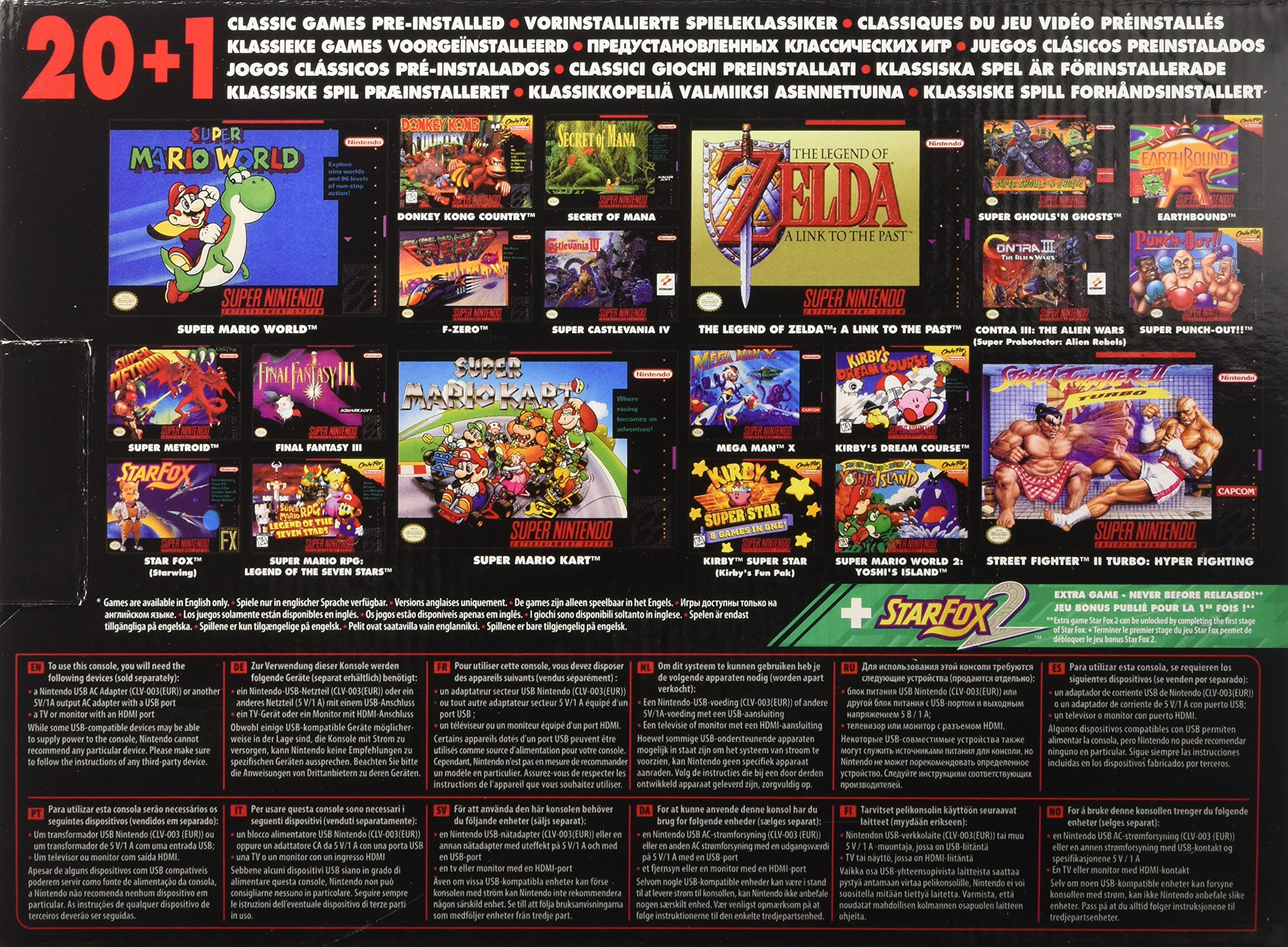 SNES Nintendo Classic Mini: Super Nintendo Entertainment System (Europe), Not Region Locked by Nintendo (Image #2)