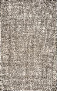 Rizzy Home Brindleton Collection Wool Area Rug, 8' Round, Brown/Gray/Rust/Blue Solid