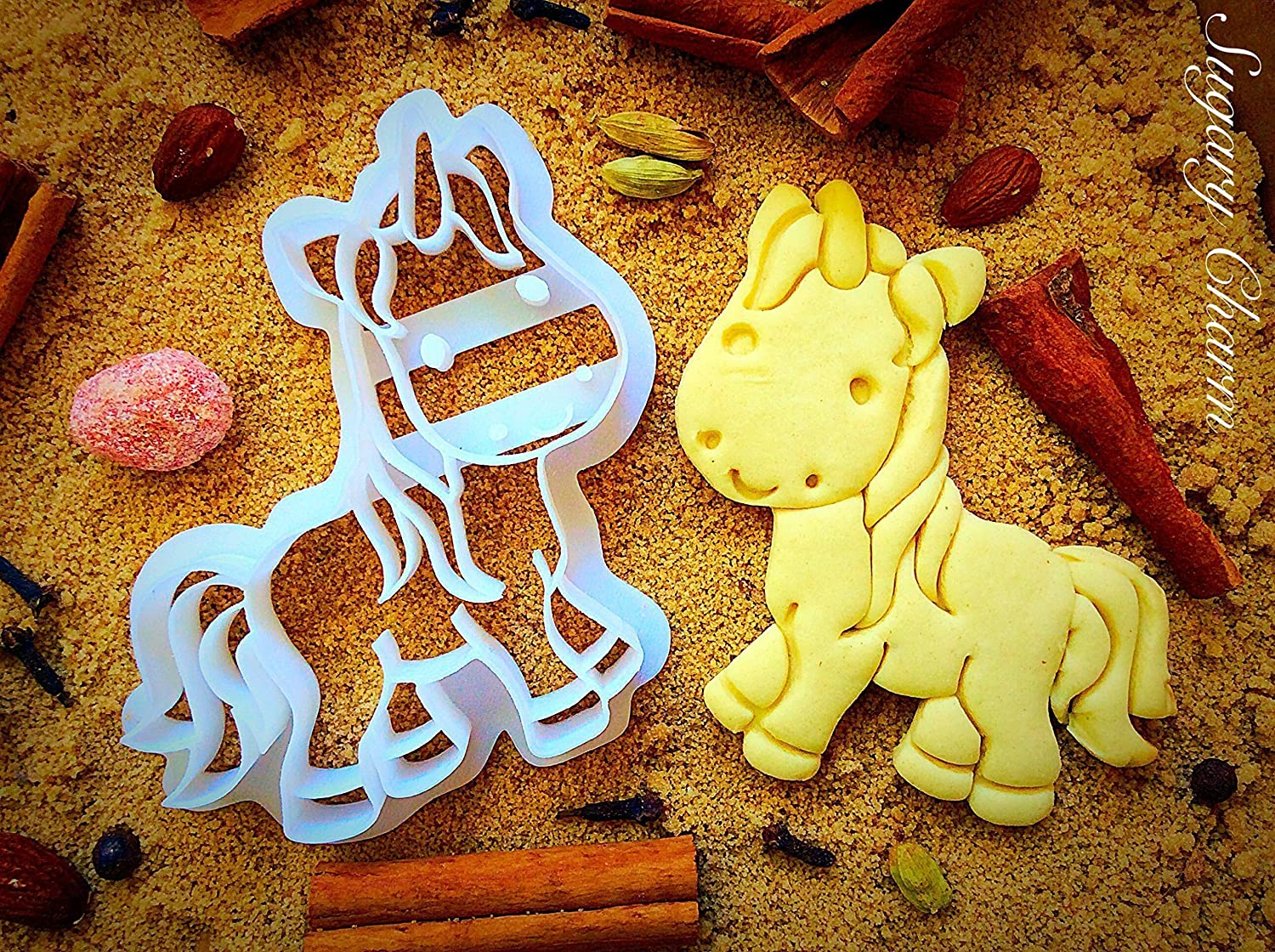 Unicorn Cookie Cutter - Unique Princess Cookies - Halloween Themed - Birthday Party Favors and Supplies - Ocean Theme Shapes - 3D Bakeware Cutters - Cute Animal Shaped Molds for Kids by Sugary Charm