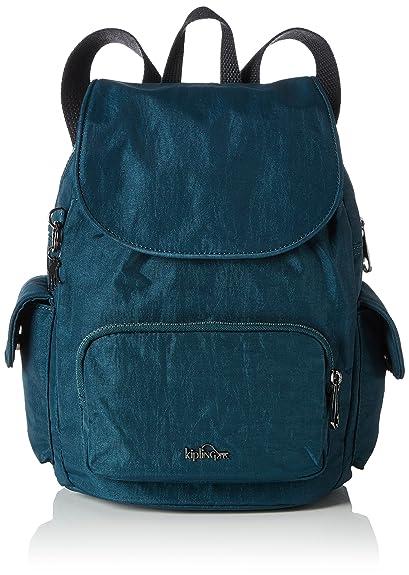 Kipling City Pack S, Women's Backpack, Grün (Deep Teal), 27x33.