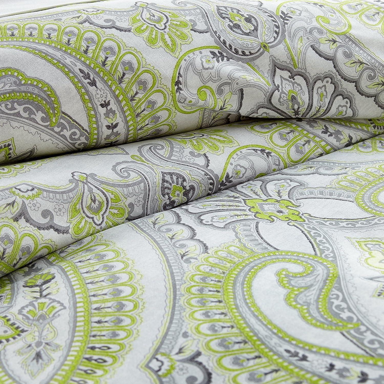 Reversible Duvet Cover Sets Winter Brush Print Twin//Twin XL 2 Piece Set Steel Grey Southshore Fine Linens