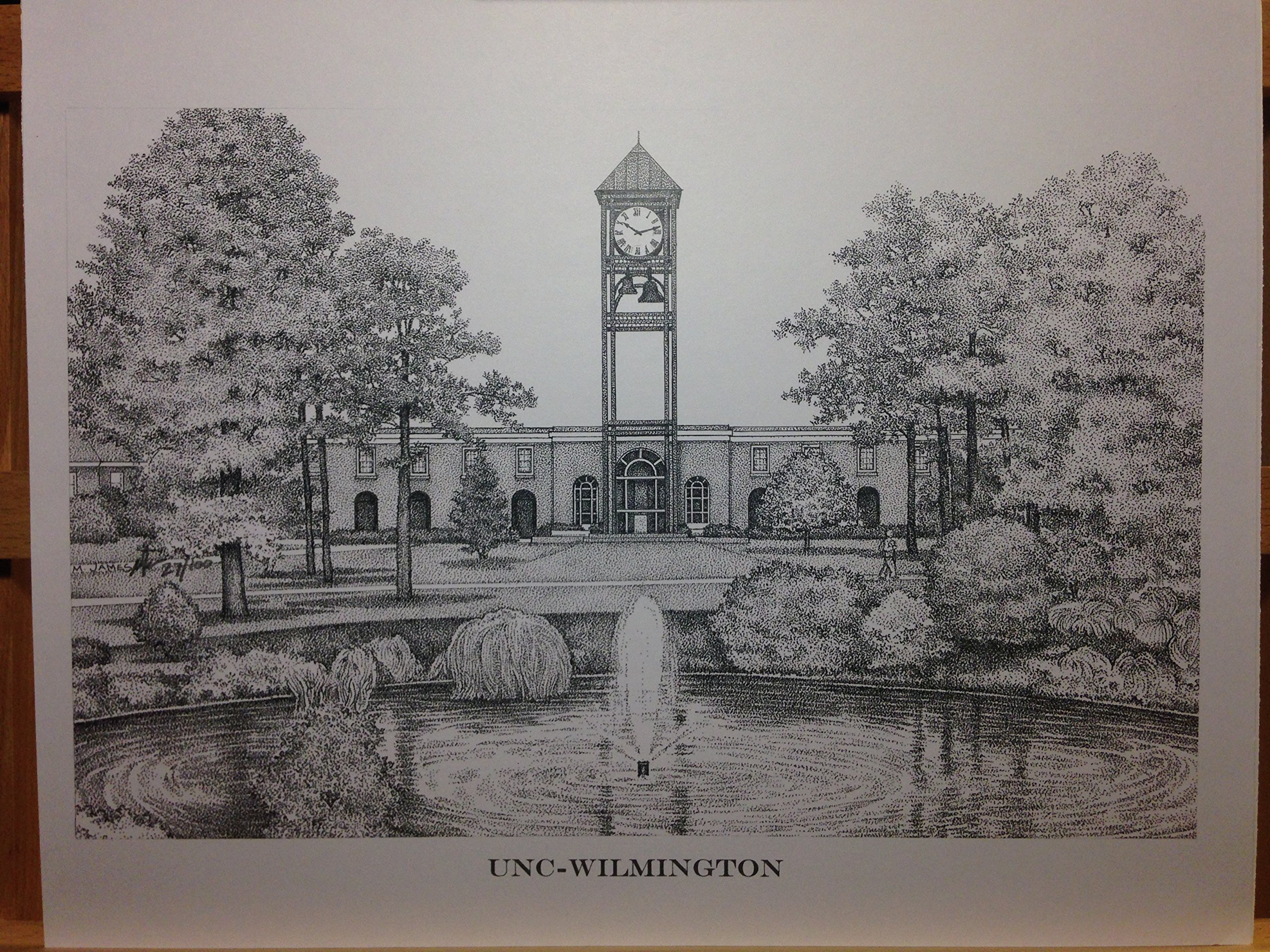UNC-Wilmington 11''x14'' pen and ink print