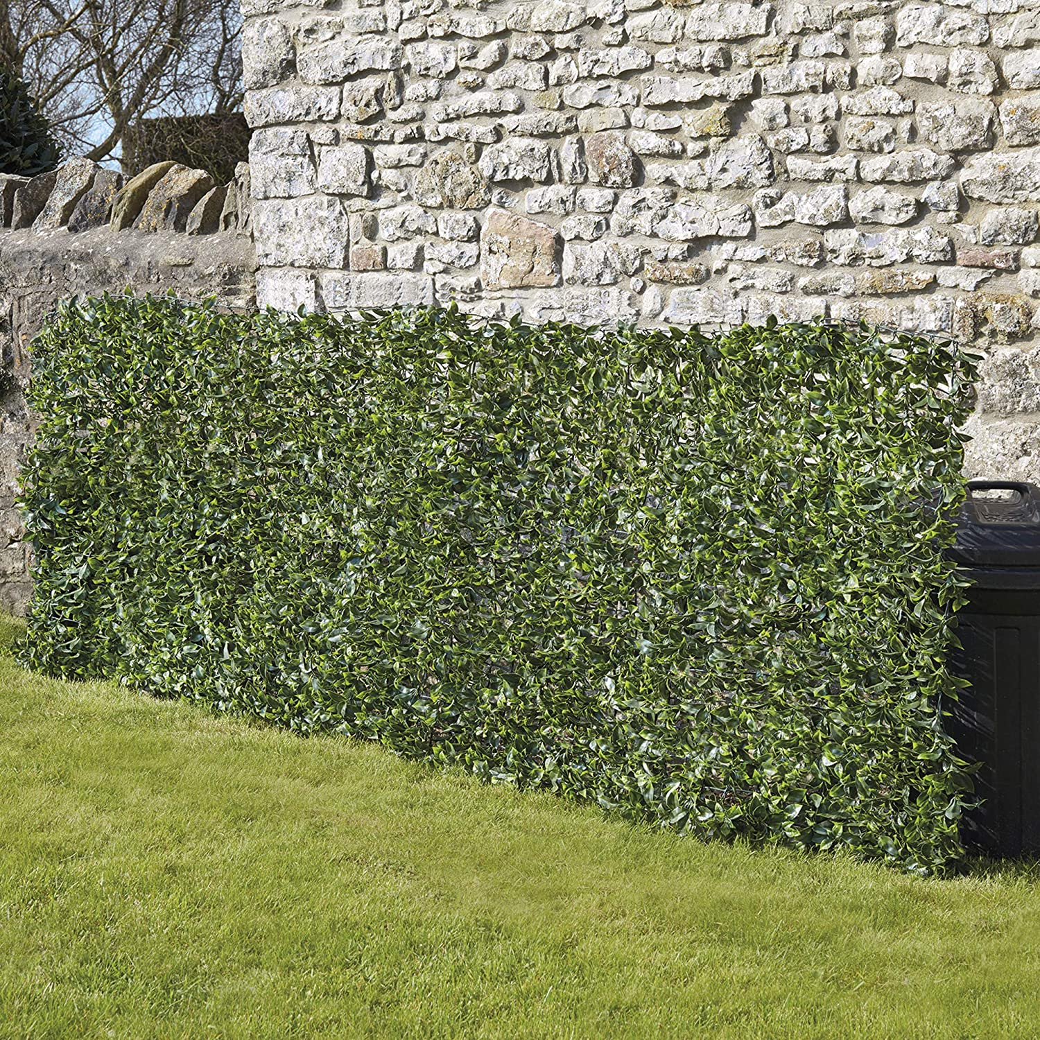 Balcony And Terraces 1m X 3m Artificial Laurel Fence Waltons Artificial Leaf Hedge Privacy Screening Fence