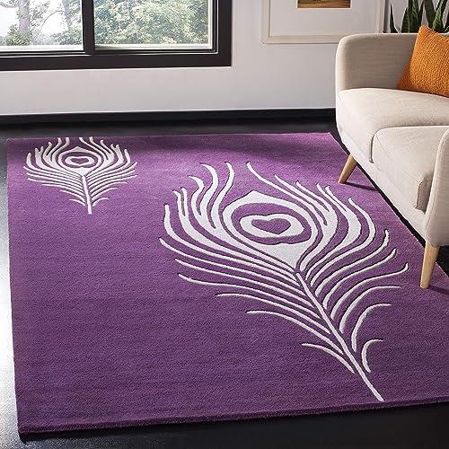 Safavieh Soho Collection SOH704A Handmade Premium Wool Viscose Area Rug
