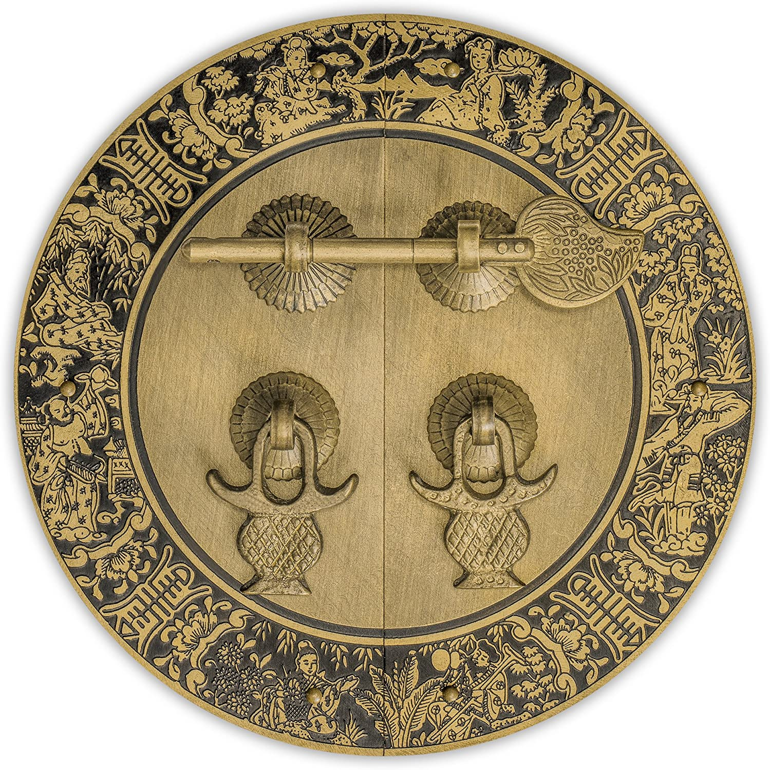 CBH Brass Blessings for Long Life Cabinet Face Plate Backplate Set 5-1/2