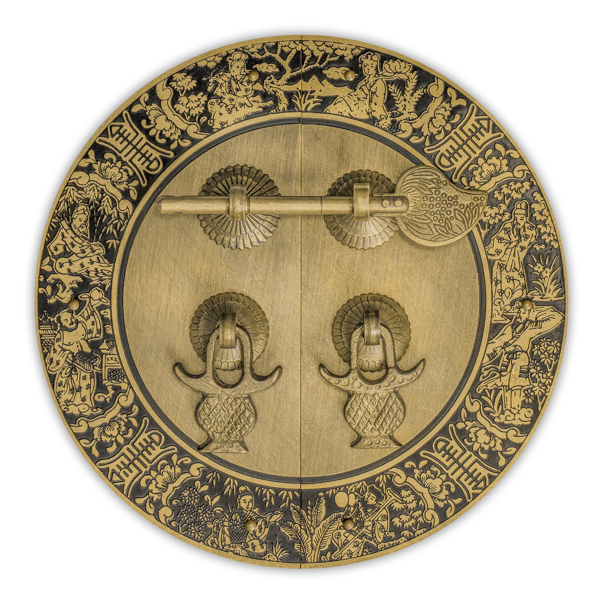 CBH Brass Blessings for Long Life Cabinet Face Plate Backplate Set 5-1/2''