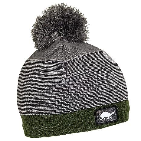 Amazon.com  Turtle Fur Groomer Boy s Fleece Lined Pom Ski Hat Olive ... eaa65e4e9e2