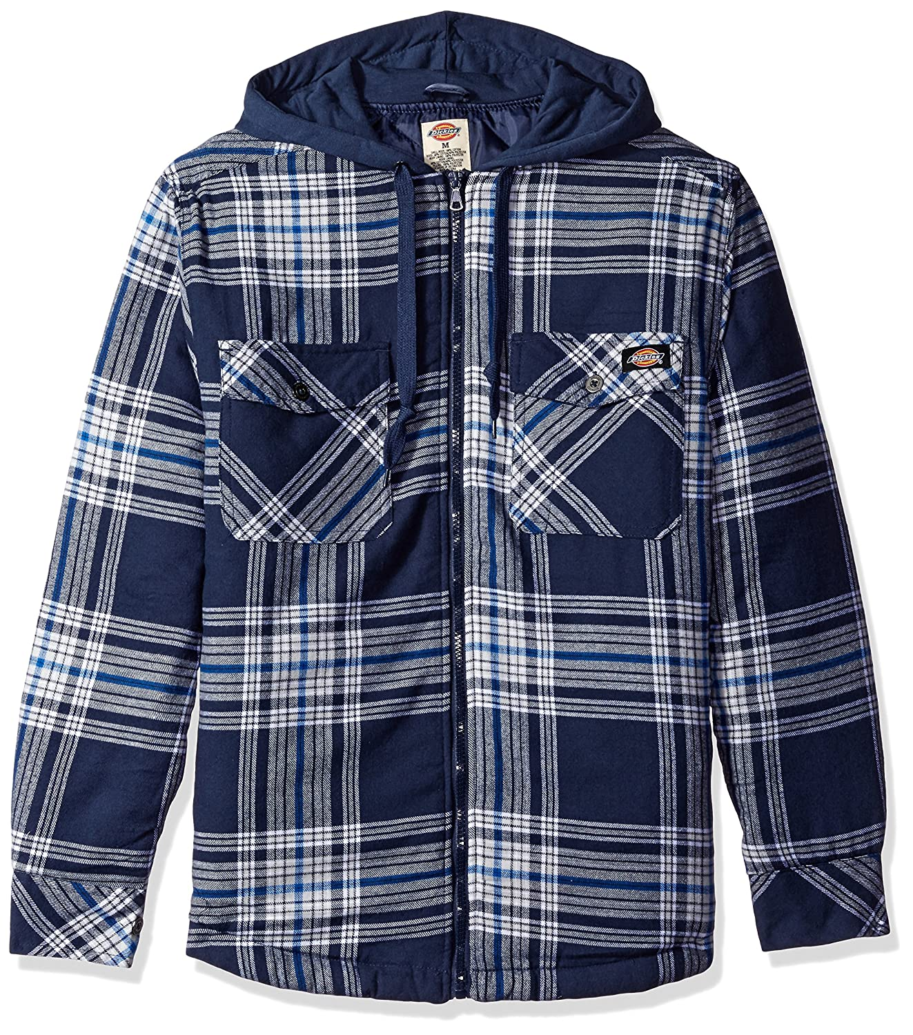 flannel coats jackets at this front white shirt pin snap men quilted insulated blue quilt hooded sportsman s guide