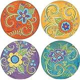 Thirstystone Stoneware Coaster Set, Gypsy Blossoms