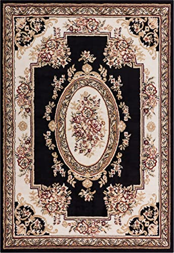 Well Woven Medallion Black 8'2″ x 9'10″ Area Rug Carpet