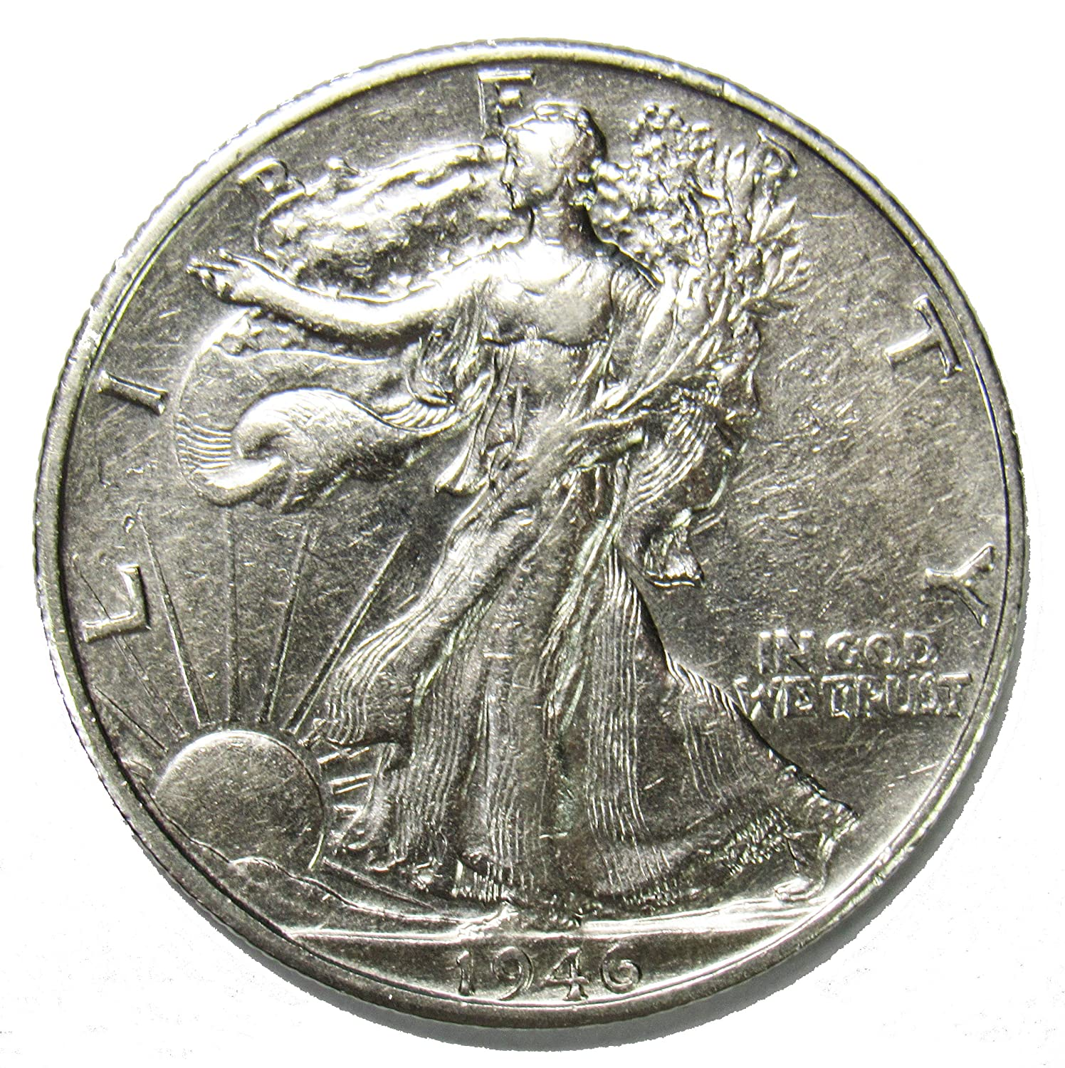 1943-d Walking Liberty Half Average Grade of Coin You Receive is Photographed