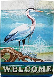 Carson Home Accents FlagTrends 46889 Blue Heron Classic Outdoor Garden Flag,Small