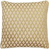Riva Paoletti Devere Gold Cushion Cover, 55 x 55 cm, Polyester