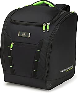 High Sierra Ski and Snowboard Deluxe Trapezoid Equipment Travel Boot Bag with S-Curved Straps and Padded Compartments for Your Winter Gear