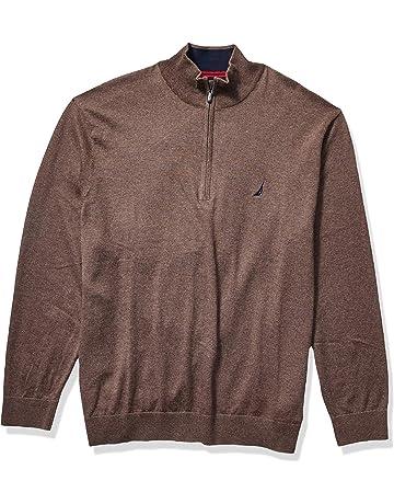 NEW LT LG TALL TURNBURY 100/% Merino Wool 1//4 Zip Mock Neck Sweater BROWN $70