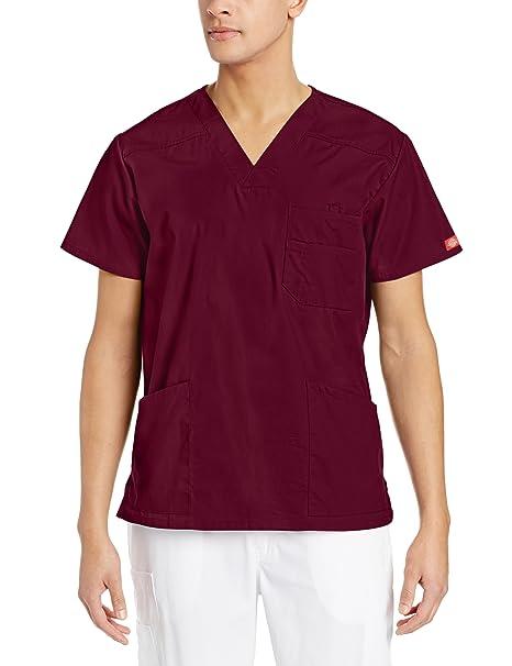 298c77a11a3e19 Amazon.com: Dickies EDS Signature Men's V-Neck Top: Medical Scrubs Shirts:  Clothing
